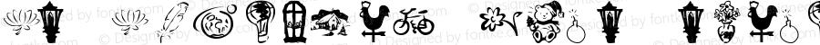 KR Katlings Four Regular Macromedia Fontographer 4.1 1/28/02