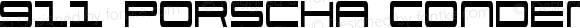 911 Porscha Condensed Condensed