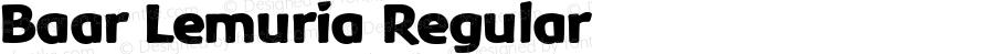 Baar Lemuria Regular Macromedia Fontographer 4.1.5 2‐03‐25