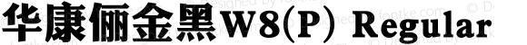 华康俪金黑W8(P) Regular