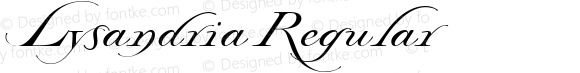 Lysandria Regular Altsys Fontographer 4.1 4/24/95