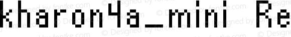 kharon4a_mini Regular Macromedia Fontographer 4.1 4/25/2002