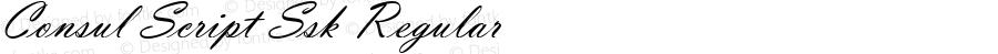 Consul Script Ssk Regular Macromedia Fontographer 4.1 8/14/95