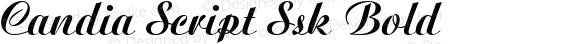 Candia Script Ssk Bold Macromedia Fontographer 4.1 8/11/95