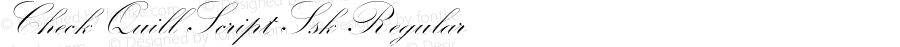 Check Quill Script Ssk Regular Macromedia Fontographer 4.1 8/16/95
