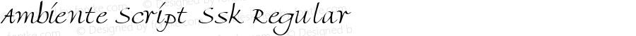 Ambiente Script Ssk Regular Macromedia Fontographer 4.1 7/25/95