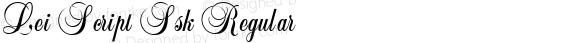 Lei Script Ssk Regular Macromedia Fontographer 4.1 8/4/95