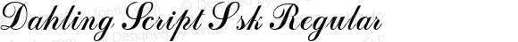 Dahling Script Ssk Regular Macromedia Fontographer 4.1 8/1/95