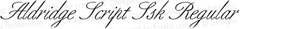 Aldridge Script Ssk Regular Macromedia Fontographer 4.1 8/10/95