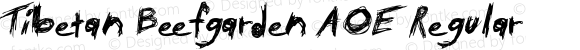 Tibetan Beefgarden AOE Regular Macromedia Fontographer 4.1.2 4/28/02