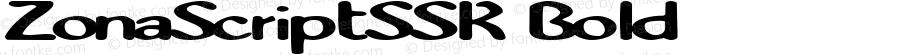 ZonaScriptSSK Bold Macromedia Fontographer 4.1 8/14/95