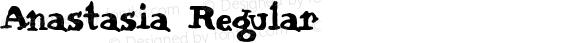Anastasia Regular Macromedia Fontographer 4.1.3 6/15/02