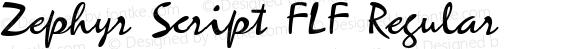Zephyr Script FLF Regular Macromedia Fontographer 4.1 23.03.02