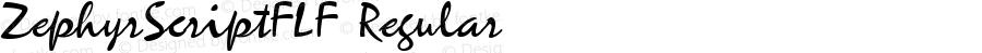 ZephyrScriptFLF Regular Altsys Fontographer 3.5  6/3/92