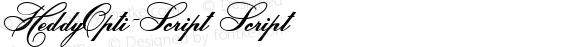 HeddyOpti-Script Script OPTI FONT SF1-Edit 3.5  10/25/93