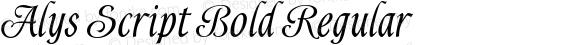 Alys Script Bold Regular Macromedia Fontographer 4.1 11.06.2002