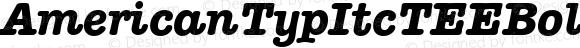 AmericanTypItcTEEBol Italic Version 001.005