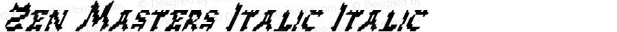 Zen Masters Italic Italic 1