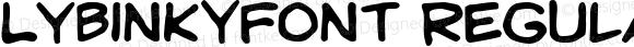 LYBinkyFont Regular Macromedia Fontographer 4.1 8/8/2002