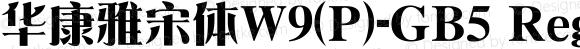 華康雅宋體W9(P)-GB5