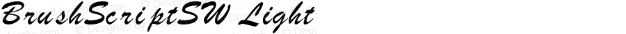 BrushScriptSW Light Rev. 003.000