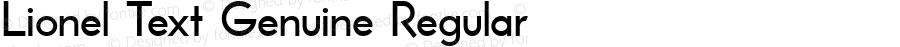 Lionel Text Genuine Regular Macromedia Fontographer 4.1.3 8/20/02