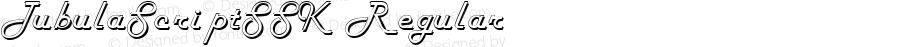TubulaScriptSSK Regular Macromedia Fontographer 4.1 8/15/95