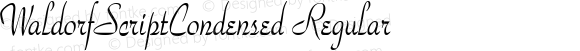 WaldorfScriptCondensed Regular