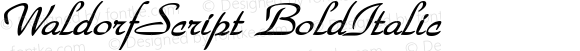 WaldorfScript BoldItalic