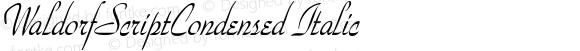 WaldorfScriptCondensed Italic