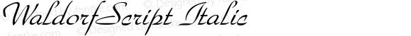 WaldorfScript Italic Rev. 003.000
