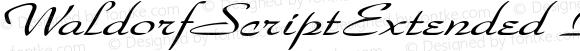 WaldorfScriptExtended Italic