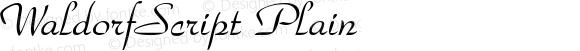 WaldorfScript Plain Rev. 003.000