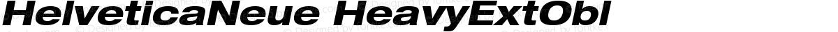 HelveticaNeue HeavyExtObl