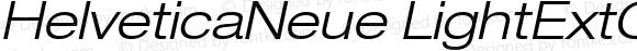 HelveticaNeue LightExtObl