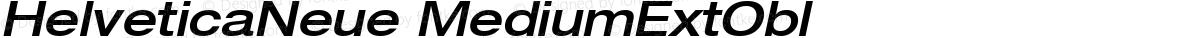 HelveticaNeue MediumExtObl