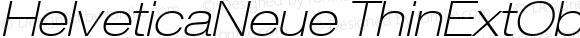 HelveticaNeue ThinExtObl