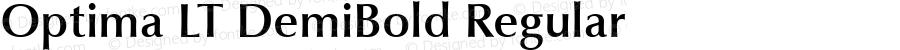 Optima LT DemiBold Regular Version 6.1; 2002