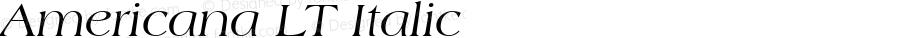 Americana LT Italic Version 6.1; 2002