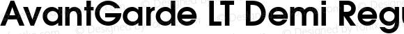 AvantGarde LT Demi Regular Version 6.1; 2002