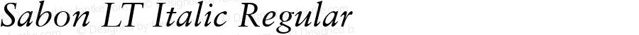 Sabon LT Italic Regular Version 6.1; 2002