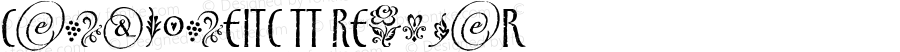 CancioneITC TT Regular Macromedia Fontographer 4.1 4/17/97