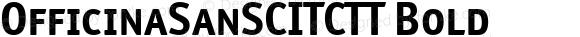 OfficinaSanSCITCTT Bold Version 1.00