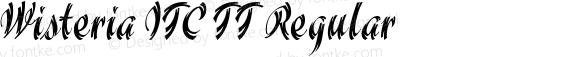 Wisteria ITC TT Regular Macromedia Fontographer 4.1.3 5/16/97