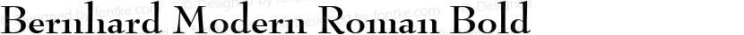 Bernhard Modern Roman Bold Preview Image
