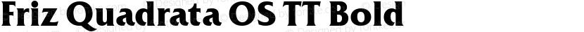 Friz Quadrata OS TT Bold Preview Image