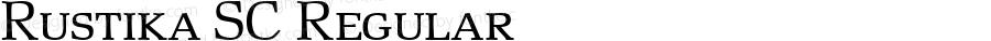 Rustika SC Regular Macromedia Fontographer 4.1.4 01‐11‐17