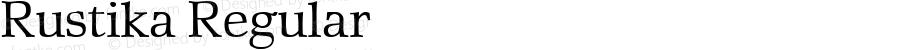 Rustika Regular Macromedia Fontographer 4.1.4 01‐11‐17