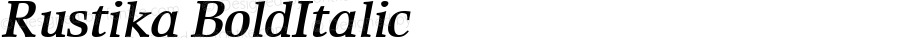 Rustika BoldItalic Macromedia Fontographer 4.1.4 01‐11‐17