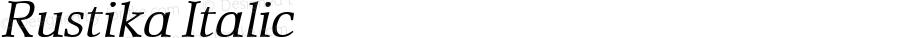 Rustika Italic Macromedia Fontographer 4.1.4 01‐11‐17
